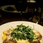 Pasta, Gorgonzola, ricotta, parma och ruccola - Gott!!!