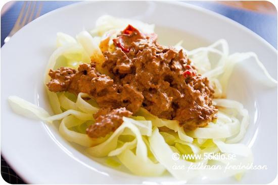 köttfärssås och spagetti arla