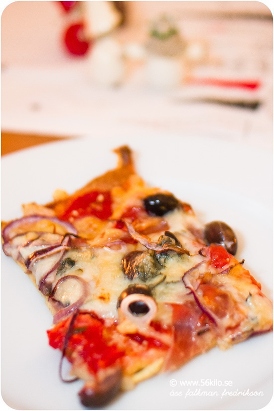 god lchf pizza
