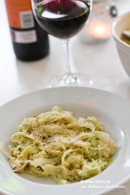 vitkål istället för pasta
