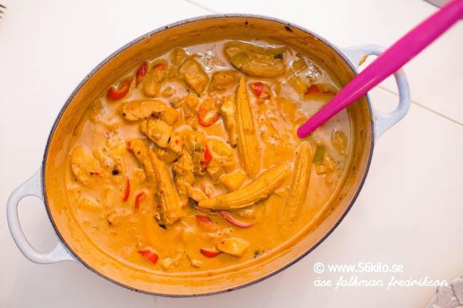currypasta kyckling recept