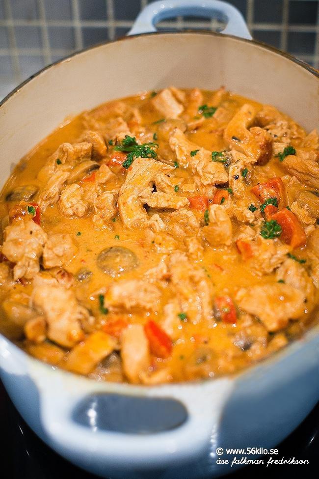 kyckling stroganoff recept