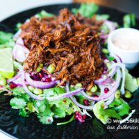Pulled Chicken Sallad med Chipotle Mayo