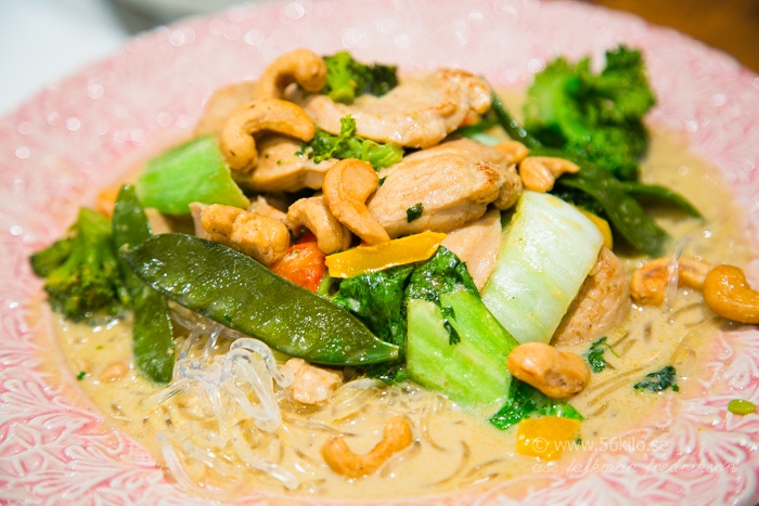 kyckling grön curry