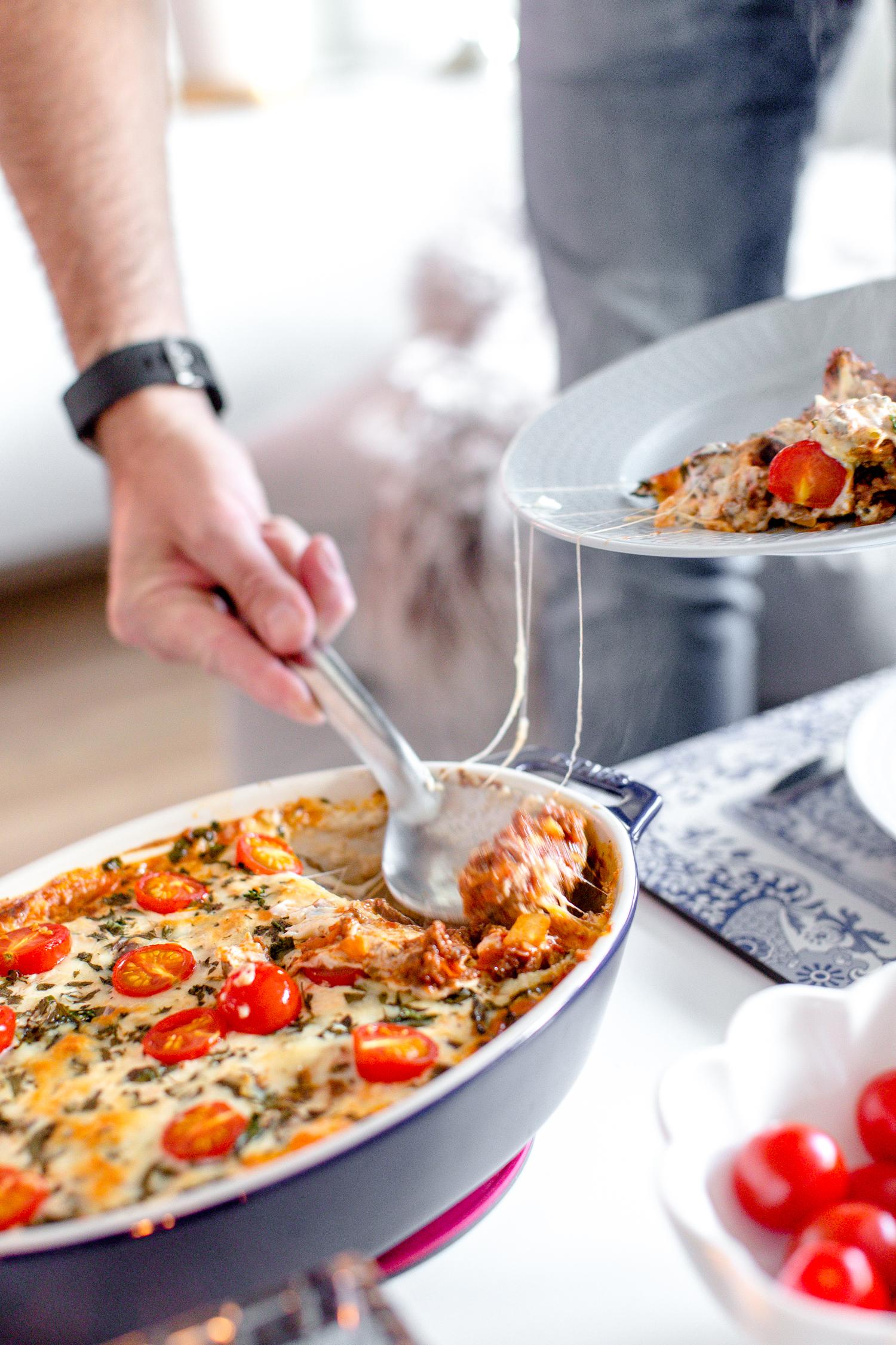köttfärsgratäng med zucchini gi