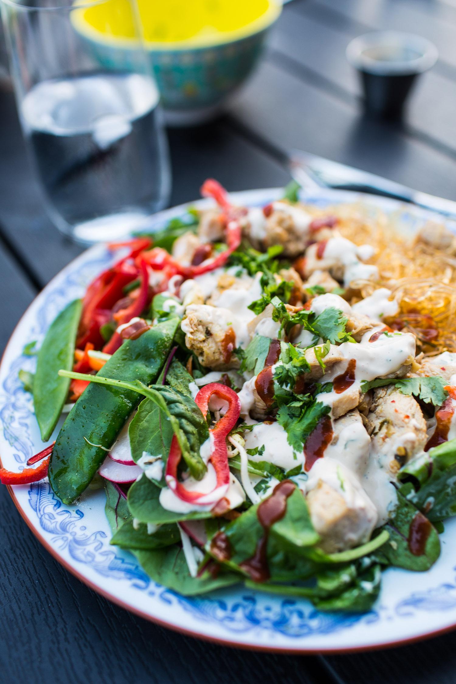 Thai kycklingsallad