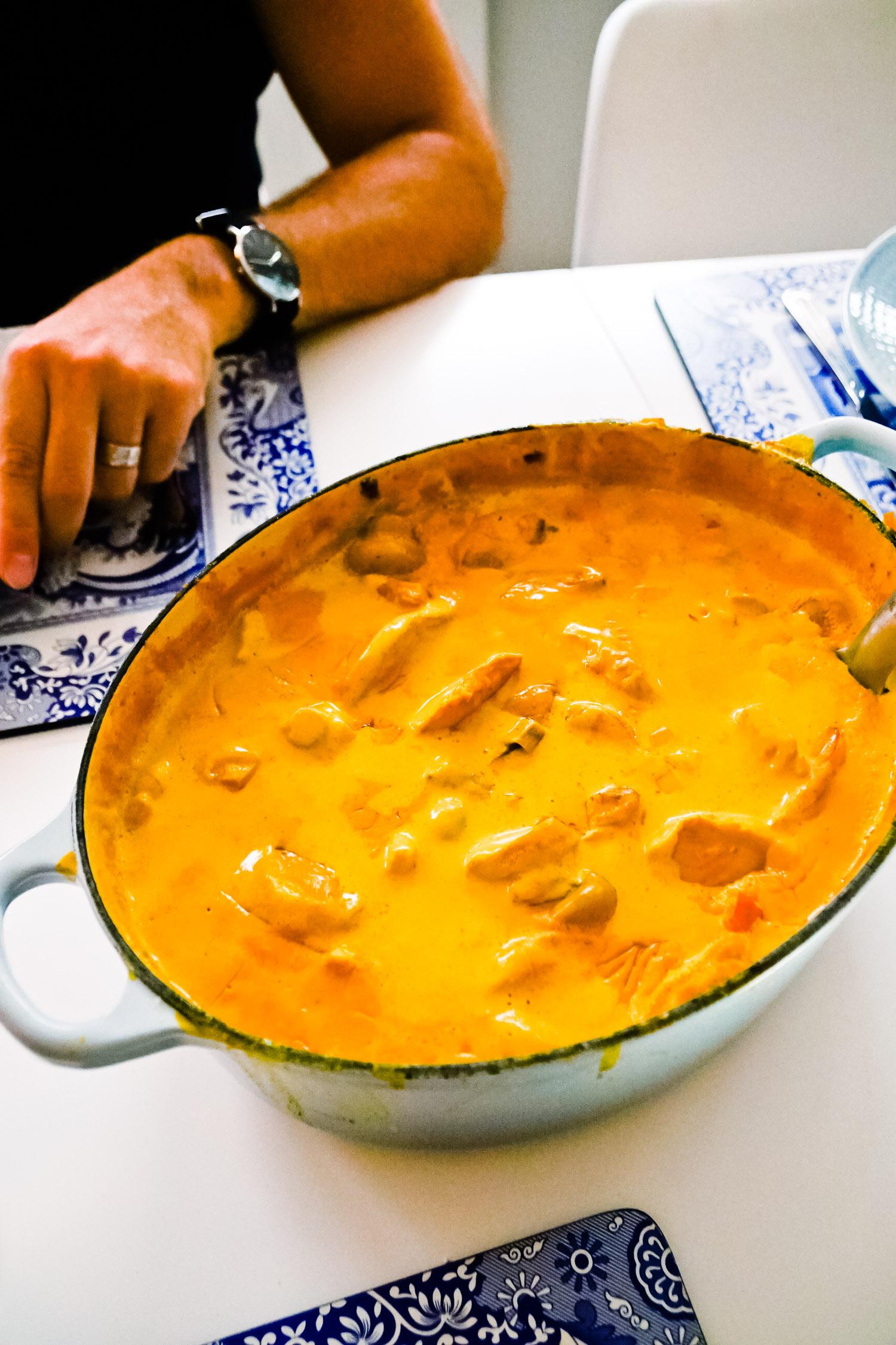 kyckling curry gryta recept