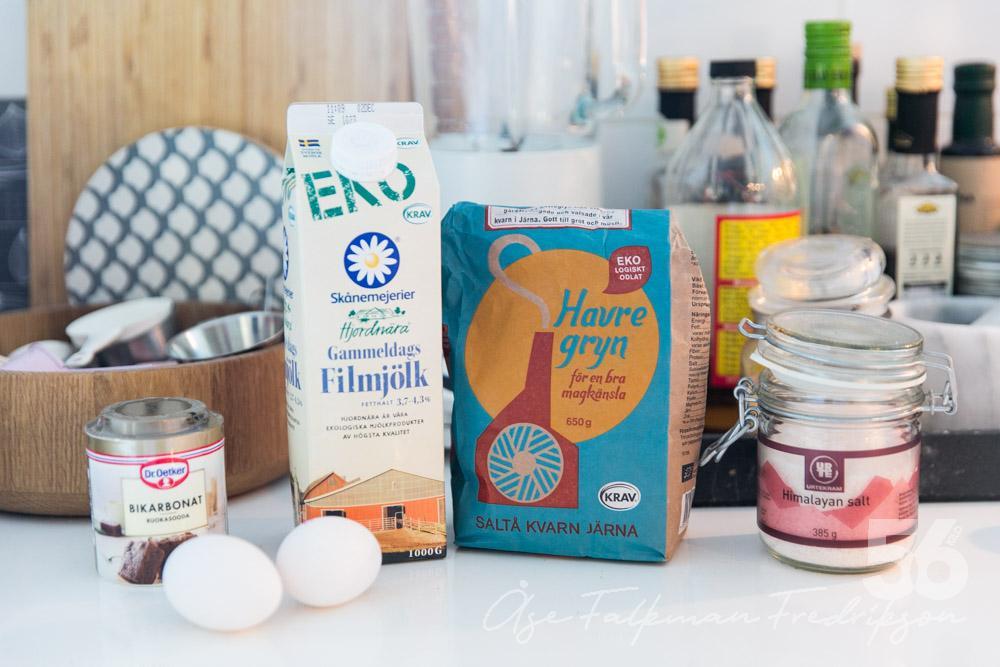 ersätta fiberhusk med mjöl